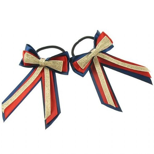 ShowQuest Piggy Bow & Tails in Navy/Red/Gold